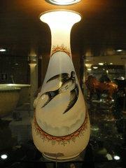 Victorian opeline glass vase