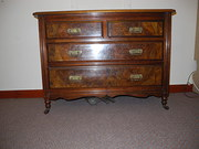 Walnut 2 over 2 chest of drawers