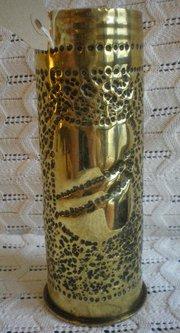 World War 1 Trench Art Vase 1917