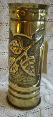 World War 1 Trench Art Vase 1909