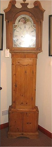 Scottish Longcase Pine Clock