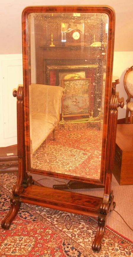 William IV Cheval mirror