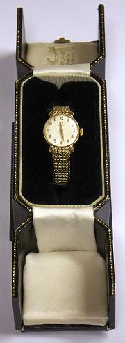 Lady's Omega 9ct Gold Watch