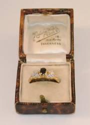 9ct Diamond + Sapphire Ring