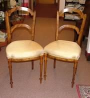 Pair Walnut Chairs