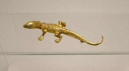 14ct Gold Diamond Lizard