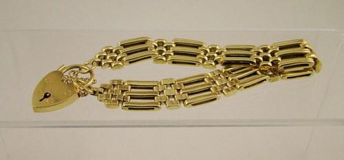 Antique 9ct Padlock Bracelet