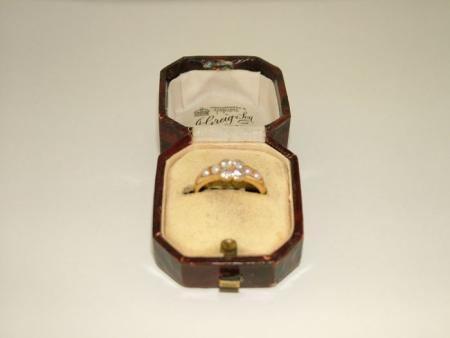 18ct Gold Diamond Pearl Ring