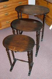 Victorian Oak Nest of Tables