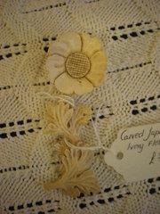 ivory flower - Late 19th century