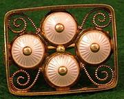 silver gilt brooch