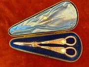 1900 silver plated grape scissors