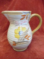 1950s Tunis Floral Decorated Jug