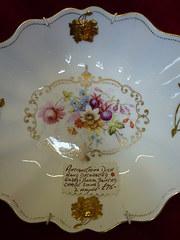 Antique China Dish by L. Hayne