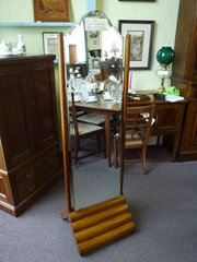 Art Deco Oak Framed Cheval Dressing Mirror