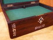 Edwardian Inlaid Rosewood Trinket Box