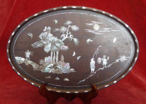 Chinese Mother of Pearl inlaid Tray