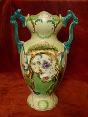 Decorated Edwardian Vase