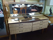 Retro Mirror Back Dressing Table