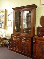 Edwardian glazed bookcase