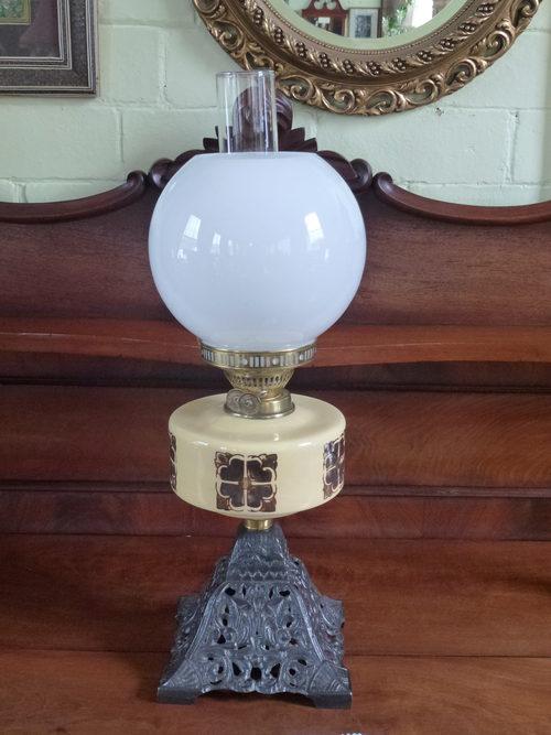 Antique Duplex Oil Lamp