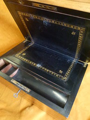 Late Victorian Walnut Writing Box