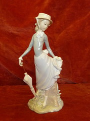 Lladro young lady in trouble
