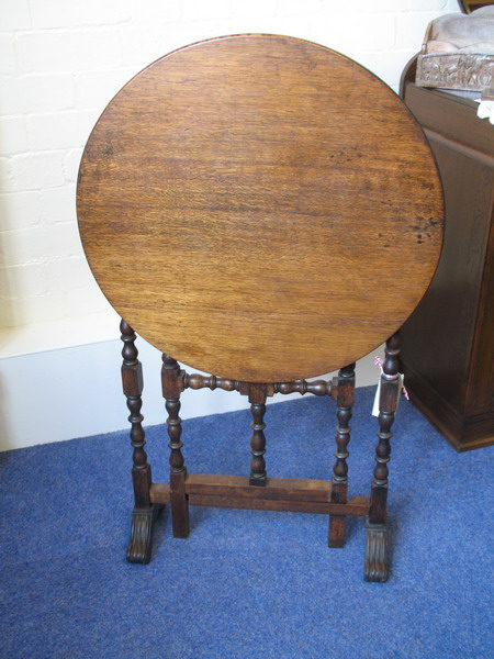 Oak Occasional Folding Top Table