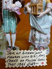 Pair of Sitzendorf figures. Post 1856.