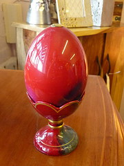 Royal Doulton Flambe egg and stand