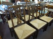 Set of 6 Chippendale style Country Chairs