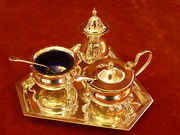 Silver plated Mappin Webb Condiment set
