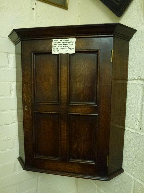 Small Oak Corner Cupboard