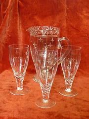 Stuart Crystal jug & 3 glass's