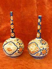 Two Imari Bottle Vase's