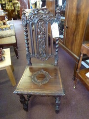 Victorian Oak High Back Chair