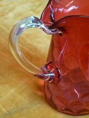 Victorian c1880 Cranberry Glass Jug