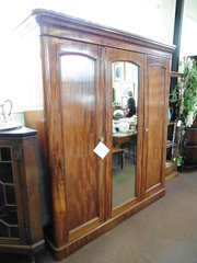 Victorian c1880 Triple Door Wardrobe