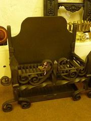 Vintage cast metal fire basket