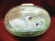 Worcester handpainted  Enamel Box