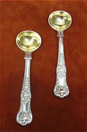 Silver Mustard Spoons