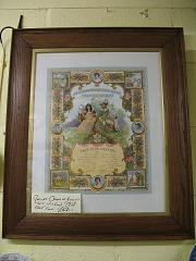 PICTURE  FORESTERS IN OAK FRAME