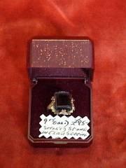 9ct Gold Smoked Stone Ring