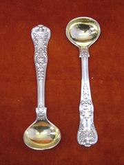Pair of Silver Mustard Spoons