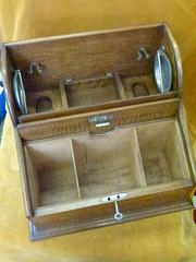 Edwardian c1900+ Oak smokers cabinet