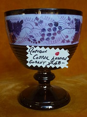 Antique Copper Lustre Goblet
