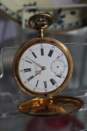 15ct Gold Fully Engraved Pocket Watch