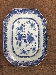18th century Chinese Blue & White Plate