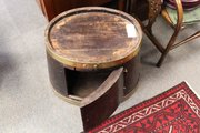 Antique Half Barrel Drinks Cupboard/coffee table