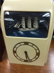 Art Deco Vitascope Bakelite Ship Clock